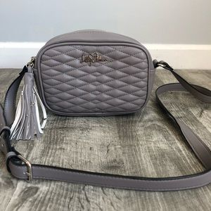Libby Edelman Quilted Faux Leather Crossbody Bag